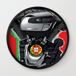 Portuguese Rumbler Wall Clock