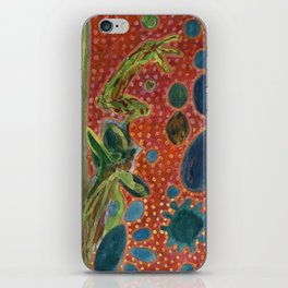 Falling Rocks on dotted Background  iPhone Skin