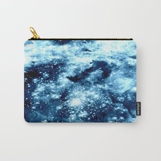 Ice Blue Galaxy Star Clusters Carry-All Pouch