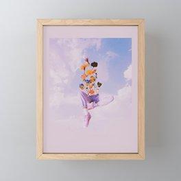 Dreamers in the clouds Framed Mini Art Print