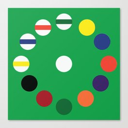 Pool Table Wall Clock [Green] Canvas Print