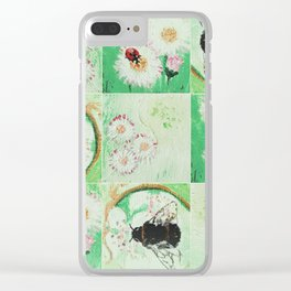 Bees and flowers Clear iPhone Case