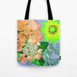 Lime Flower Tote Bag