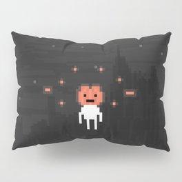 Hovering Halloween pumpkin head Pillow Sham