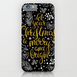Christmas Greetings iPhone Case