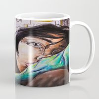 alone Mugs featuring Alone by Amy V