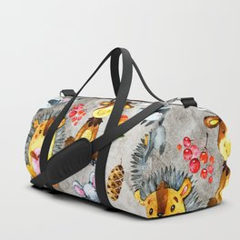 Woodland Animal Friends in forest -pattern for children Duffle Bag