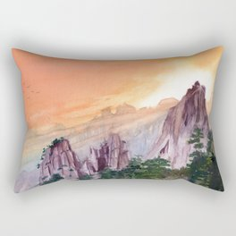 Morning Light On The Mountain Rectangular Pillow