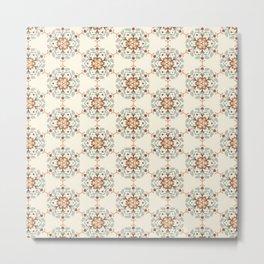 Flower Pattern Artwork B1 Metal Print