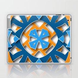 aztec mandala sun blue Laptop & iPad Skin