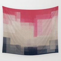 city Wall Tapestries featuring city by spinL