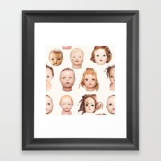Doll Heads pink Framed Art Print