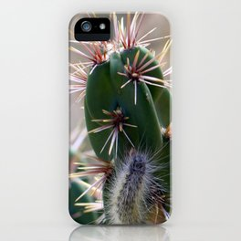 Fuzzy Caterpillar on Cactus 1 iPhone Case