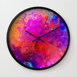 Colorful Splatter Wall Clock