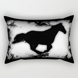 Western-look Galloping Horse Silhouette Rectangular Pillow