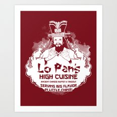 Lo Pan's High Cuisine Art Print