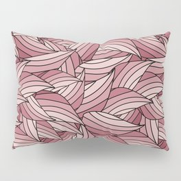 PALE DOGWOOD LEAVES B (abstract flowers nature) Pillow Sham