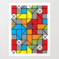 Crosshatch Cube No. 1 Art Print