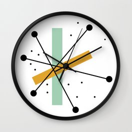 Retro Minimalist Mid Century Modern Pattern Design Wall Clock