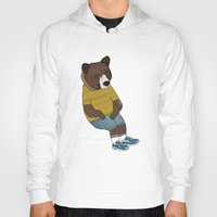 nike Hoodies featuring Bear in Nike by Diana Hope