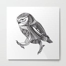 Keep on moving ornate owl Metal Print