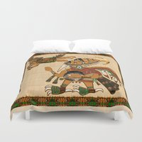diver Duvet Covers featuring Earth Diver by BohemianBound
