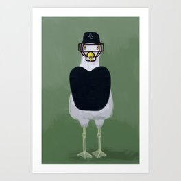 Seagull umpire Art Print