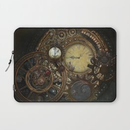 Steampunk Clocks Laptop Sleeve