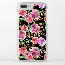 Insects and Flowers Clear iPhone Case