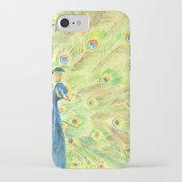 peacock iPhone & iPod Cases featuring Peacock by Annie Mason
