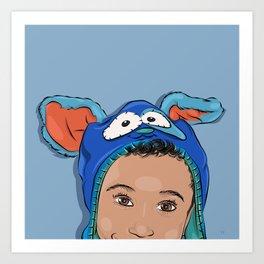 My Bunny Hat Art Print
