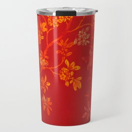Gold Cherry Blossoms Travel Mug
