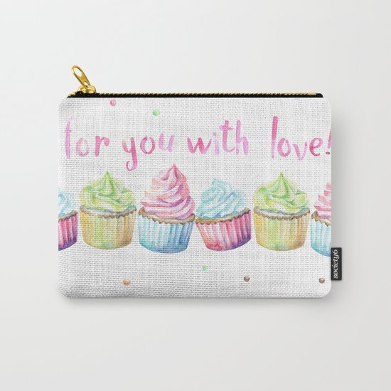 For You with Love Carry-All Pouch