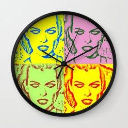 Milla Jovovich Pop Art V Wall Clock