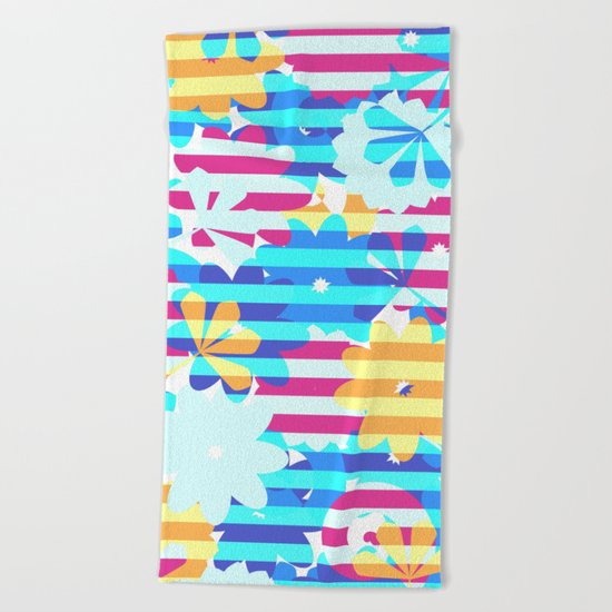 Floral brightness Beach Towel
