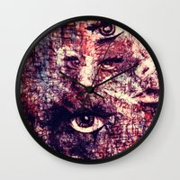 faces Wall Clocks featuring Faces by Paige Elizabeth
