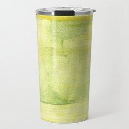Yellow green watercolor Travel Mug