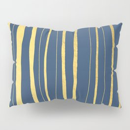 Vertical Living Navy and Gold Pillow Sham