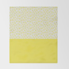 Triangles yellow Throw Blanket