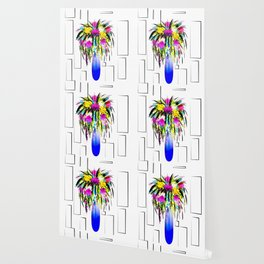 Vase with flowers,floral design Wallpaper
