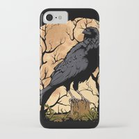 crow iPhone & iPod Cases featuring Crow by Murat Sünger