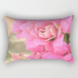peach colored flower Rectangular Pillow