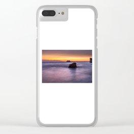 Swansea Bay Sunrise Clear iPhone Case