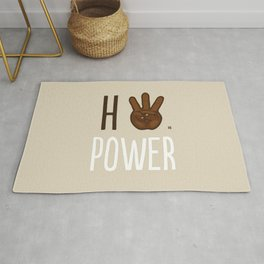HiiiPower (w/text) : Chocolate Rug