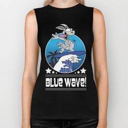 Democrat Donkey Blue Wave 2018 Midterm Voters Biker Tank