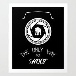 Anti-poaching Elephant for Wildlife Photographers White on Black Art Print