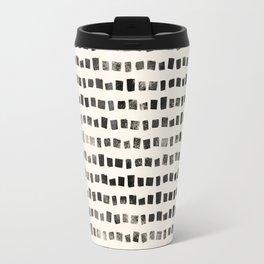 Small Black Squares Travel Mug