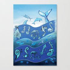 Ocean's Symphony Canvas Print