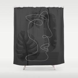 Face Figure Shower Curtain