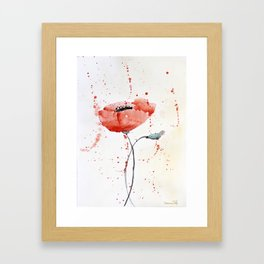 Poppy no 1 Framed Art Print